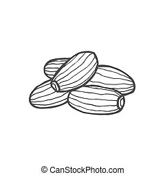 Dried fruits Vector - Dried fruits. Vector illustration of...