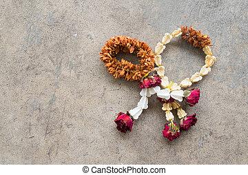 Dried garland flower Thai style