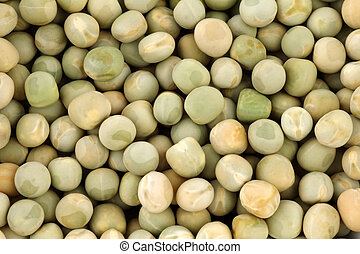 dried green peas background