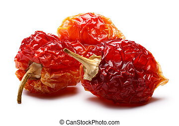 Dried habaneros, clipping paths