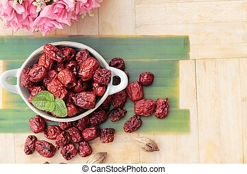 Dried jujube fruits is tasty