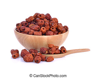 dried jujube isolated on white background