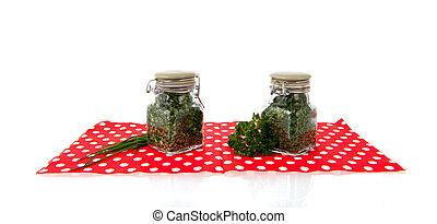 Dried kitchen herbs