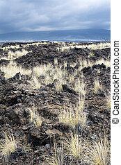 Dried lava flow