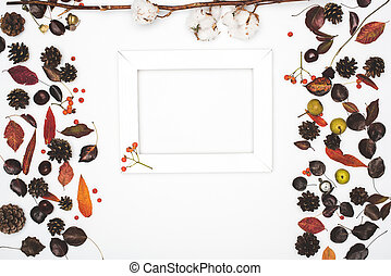 dried leaves and frame