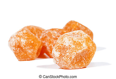 Dried mandarine isolated on white - Dried orange mandarine...