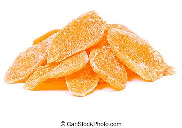 dried mango  - Dried mango on white background