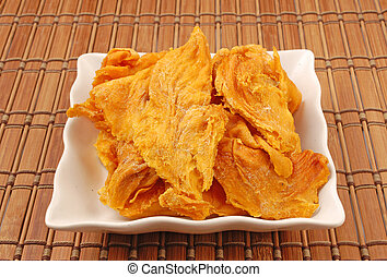 Dried mango - Dried  mango on white plate