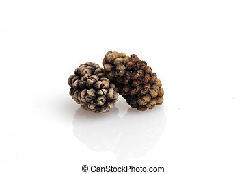 dried mulberry isolated