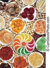 Dried Nut and Fruit Selection High in Antioxidants