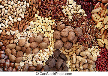 Dried Nut Collection High In Protein