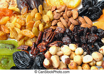 Dried Nuts and Fruits Collection - A mixed collection of...