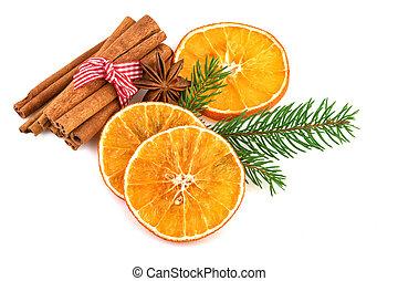 Dried Orange Slices with Cinnamon