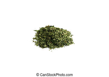 dried parsley - Dried parsley isolated on white