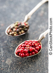 Dried pink peppercorn.