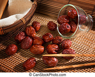Chinese jujube - Dried red date or Chinese jujube....
