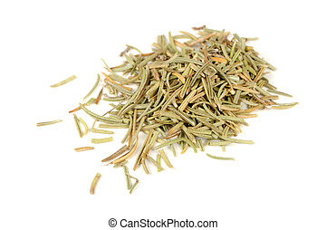 Dried Rosemary Isolated on White Background