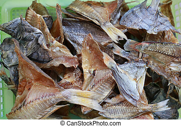 Dried sea fish of Thai local foods.