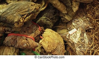 Dried seaweed sold in supermarket stock footage video -...