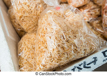 Dried shrimp in bag