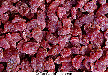Dried strawberries background