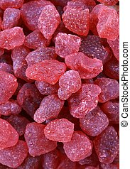 Dried strawberries - Detail of dried strawberries - full...