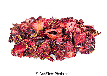 Dried strawberries - Dried flavored strawberries isolated on...