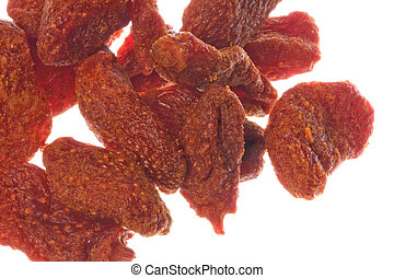 Dried Strawberries Macro Isolated - Isolated macro image of...