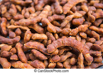 Dried tamarind peeled