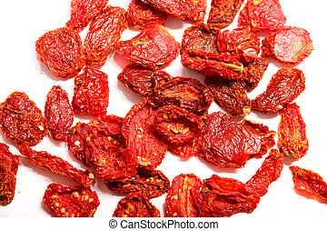 Dried Tomatoes - Dried tomatoes isolated on white...
