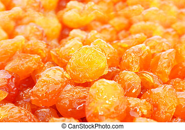 Dried yellow cherries