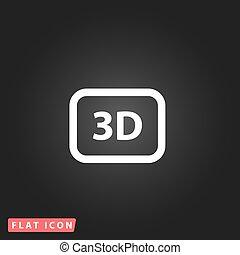 driedimensionaal, pictogram, vector