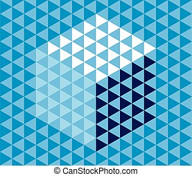 driehoek, abstract, pattern., achtergrond., vector, geometrisch