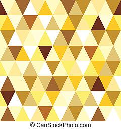 driehoek, abstract, pattern., seamless, goud