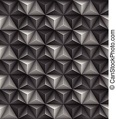 driehoek, abstract, seamless, illustratie, vector, geometrisch, texture., 3d