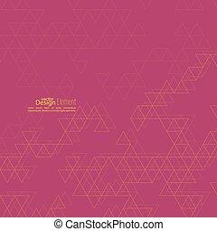 driehoek, creatief, pattern., abstract