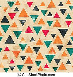 driehoek, gekleurde, model, effect, ouderwetse , grunge
