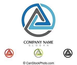 driehoek, illustratie, vector, ontwerp, mal, logo, pictogram