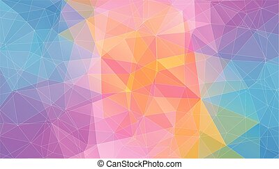 driehoek, kleur, licht, shapes., achtergrond, geometrisch