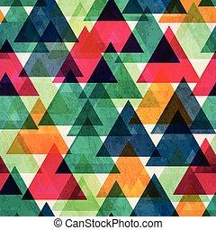 driehoek, kleur, ouderwetse , seamless, textuur, helder