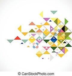 driehoek, kleurrijke, abstract, illustratie, creatief, achtergrond, vector
