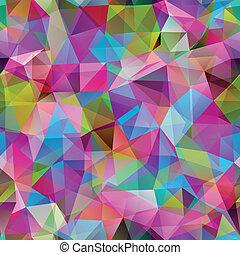 driehoek, kleurrijke, banner., model, shapes., seamless, geometrisch, mozaïek
