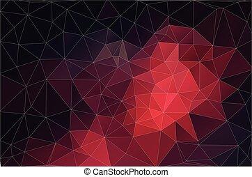 driehoek, kleurrijke, shapes., pattern., retro, achtergrond, geometrisch, mozaïek, rood