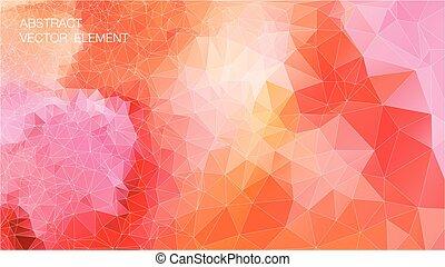 driehoek, kleurrijke, shapes., pattern., retro, achtergrond, geometrisch, mozaïek