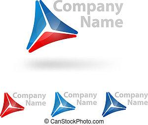 driehoek, logo, ontwerp
