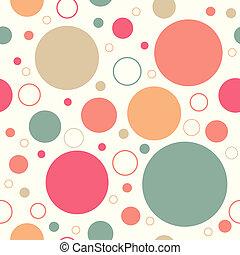 driehoek, model, abstract, seamless, retro, cirkel