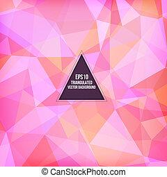 driehoek, model, achtergrond