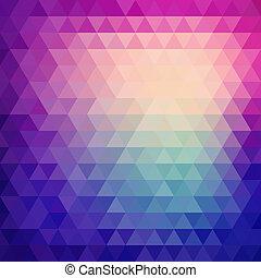 driehoek, model, gedaantes, retro, geometrisch, mozaïek
