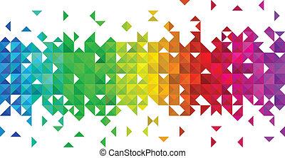 driehoek, mozaïek, achtergrond