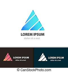 driehoek, ontwerp, template., pictogram